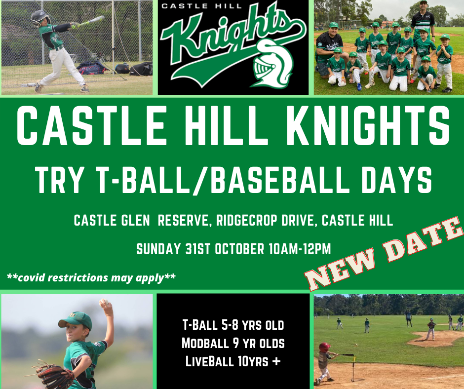 Try T-ball & baseball with the Knights!